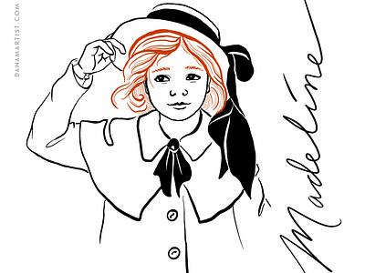Madeline character childrens illustration childrens book inktober2020 sketch inktober flat color illustration