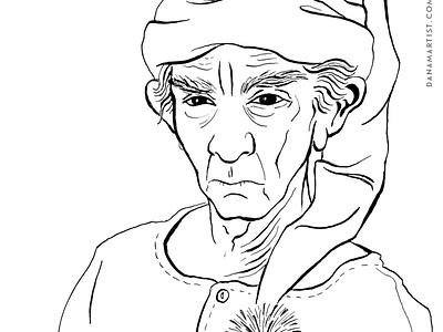 Ebenezer Scrooge christmas carol inking ink character design books inktober2020 inktober illustration
