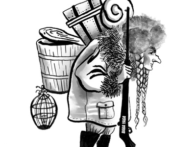 Baba Yaga koschei the deathless baba yaga russian mythology inking ink books character design sketch inktober2020 inktober