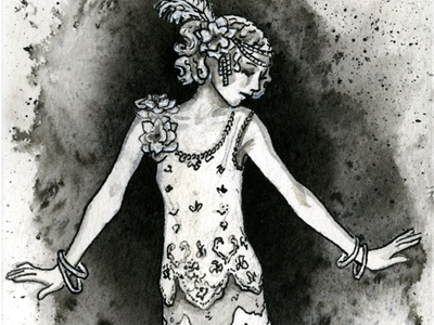Flapper Girl, Day 3 of Easy and Hard Challenge