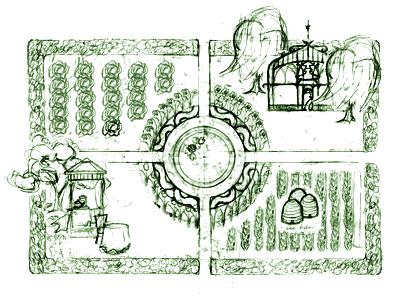 Garden Map Sketch