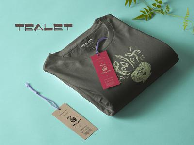 Tealet T-shirts digital illustration grunge texture illustrator photoshop food culinary tea logo t-shirt tshirt apparel