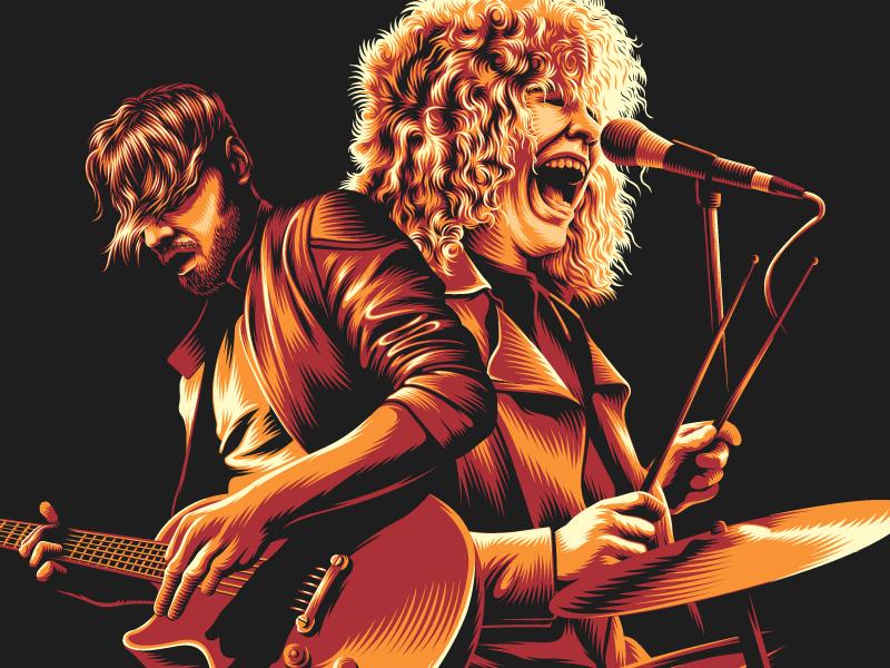 Illustration music band illustration vector
