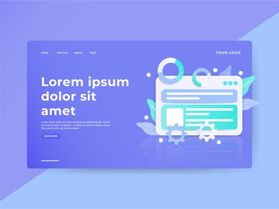 Header Page Illustration 3D landing page user interface user experience hero section 3d illustration ux interface experience user ui page landing landingpage section image hero design clean illustration 3d
