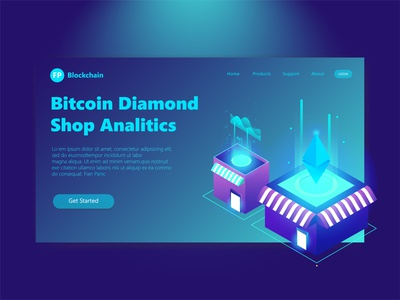 Isometric Header Page Illustration Bitcoin Diamond Wallet isometric illustration isometric bitcoint 3d landing page user interface user experience hero section experience clean 3d illustration ux ui illustration design