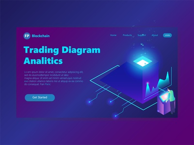 3D Header Page Illustration Trading Diagram Analitic trading platform diagram analitic trading 3d illustration 3d ux user interface user experience ui landing page landingpage illustration hero section hero image clean design