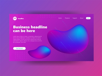 Header Page Illustration Mesh Fill Gradient Strong meshfill meshfill art gradient color gradient mesh hero image clean design landingpage 3d user interface user experience landing page hero section ux ui branding 3d illustration illustration