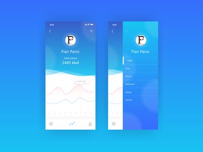 UI Mobile App Side Bar Menu diagram analytic analysis side menu sidebar side mobile ui mobile design mobile app design mobile app mobile