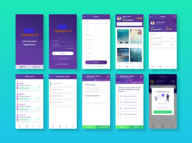 UI Mobile App E-Pelajar.id landing page clean design design user interface user experience illustration hero section ux ui mobile ui mobile design mobile app design mobile app mobile
