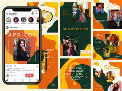 Orange Liquid - Instagram Banners