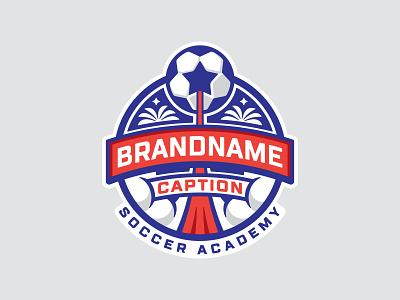 Soccer 📌 Logo for Sale logodesign logos academy school education sport camp palm coat of arms launching team start badge emblem soccer ball rocket star socker soccer football