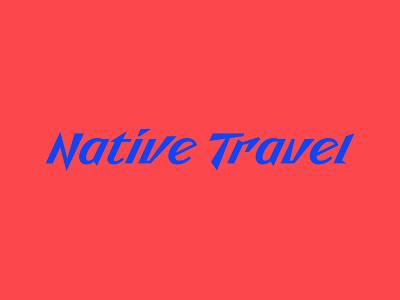 Native Travel logo design logo voyage type trip travels tour texture native lettering journey design font flight