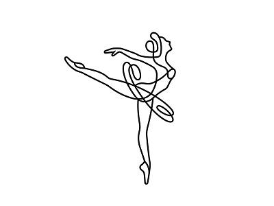 Ballerina 📌 Logo for Sale choreographer school jewelry perfume clothing art logo lady mascot person people girl woman female dancer one line dancing ballet dance ballerina