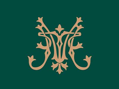Monogram MT 📌 Logo for Sale exclusive majestic royal elegant luxury golden heraldry medieval ресторанheraldic antique ancient mark family coat of arms initials logo letter monogram
