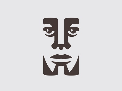 Idol Face 📌 Logo for Sale indian negro restaurant cafe beans coffee blm afro black god deity idol letter character mascot man person face