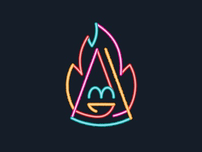 Neon Pizza 📌 Logo for Sale personage character comics retro bar logo casino vegas party disco signboard delivery fast food light led flame fire hot pizza neon
