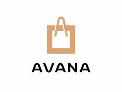 AVANA logotype logo trendy womens fashion boutique accessories clothing letter bag shopping