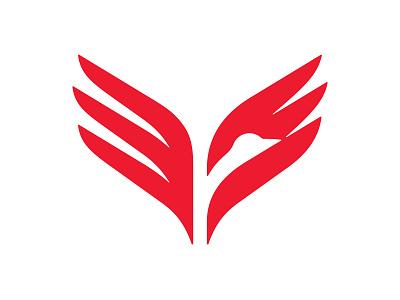 Phoenix Flight 📌 Logo for Sale speed attack airline freedom start logo dynamic rebirth sports fly flight crane falcon eagle hawk wings flame fire bird phoenix