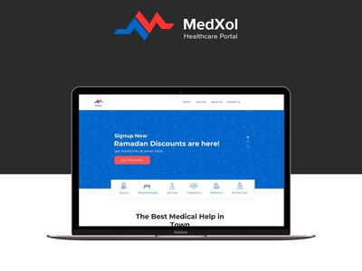 MedXol Landing Page Design