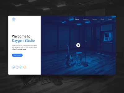 Main page for recording studio website