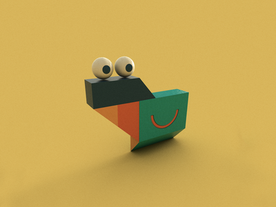 Face dribbble eyes objects face design minimal suvo roy art illustrations object cinema4d 3dart 3d