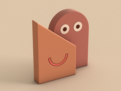 Together colours smile together emotion shapes objects cinema 4d 3d illustration roy suvo muzli minimal dribbble