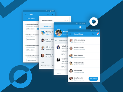 Recruitee Mobile dashboard profile candidate candidates ios android ats hiring recruiting mobile mobile app recruitee