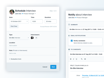 Schedule form event time scheduling schedule material calendar form interface ui saas admin