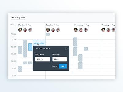 Find Time - Schedule better Interviews event time scheduling schedule find time calendar form interface ui saas admin