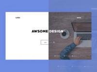 Asymmetric web design trend (Portfolio)
