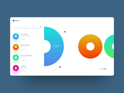 Future Music Player Concept mockup ux ui illustration latest design