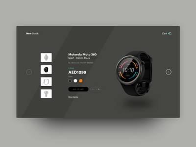 Moto 360 Product Section Concept Design branding illustration ux free design ui