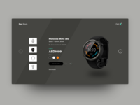 Moto 360 Product Section Concept Design