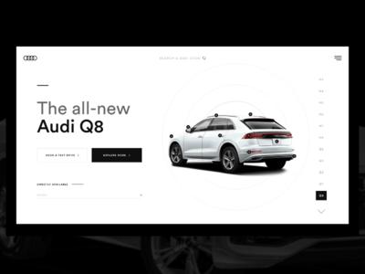 Audi Webdesign Concept Speedart #019