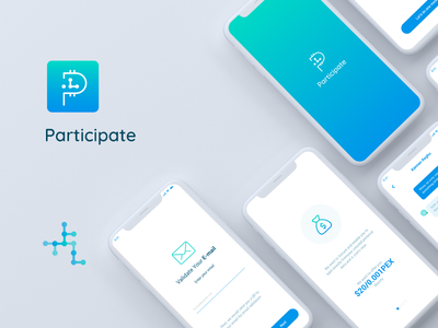 Participate Mobile App Ui dESIGN typography web app icon illustration branding ux mockup ui design