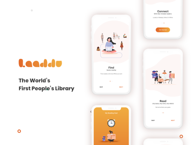 Laaddu (The World's First People's Library) minimal design best ux design elegent design nice design book sharing app reading app behance beauty concept mibile app design bes ui design psd vector logo illustration mockup ux branding ui design