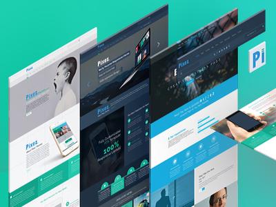 Pixez landing page website design
