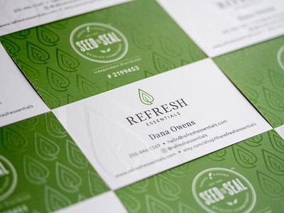 Refresh Essentials  - Card spot gloss spot uv print design card business cards business card