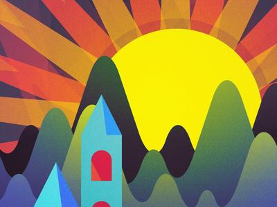glmntnsa illustrator sun hills mountains foolin vector vectors photoshop for fun