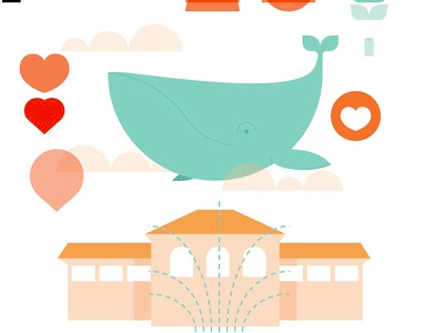 Whale+Hearts+Clouds parts and pieces carondelet park boathouse stl st. louis saint louis whale hearts clouds city museum wedding process odds and ends