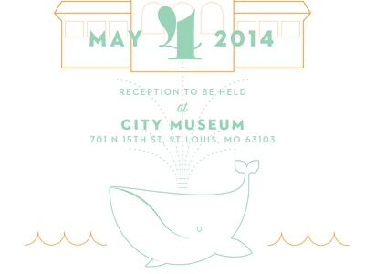 Wedding Invitation Crop wedding whale stl clouds boathouse st. louis saint louis city museum wedding invitation wedding invitations weddings letterpress
