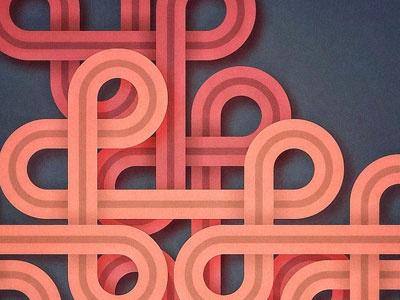 loops depth flat vector strokes loops gradients racing stripes dimension