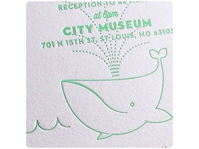 Whale DeTail st. louis saint louis city museum tail detail invitation invite wedding whale