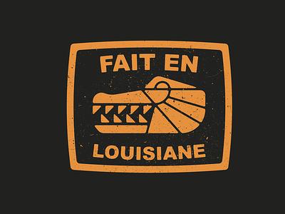 Made in Louisiana cajun alligator logo
