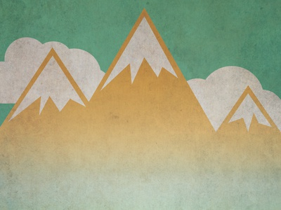 Mountains poster gig clouds mountains