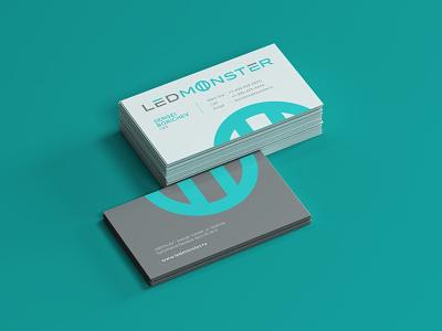 Led Monster Business Card Design