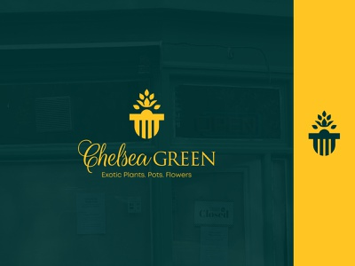 Chelsea Green illustration vector logo design