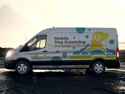 Mobile Dog Grooming - Corporate Van Branding illustrator logo design logodesign marketing identity vector logo typography illustration colors modern branding design