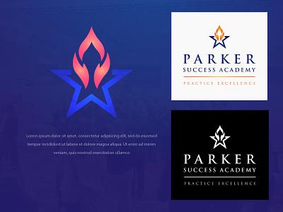 Parker Success Academy logo modern colors design