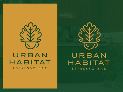 Urban Habitat illustration colors logo modern design